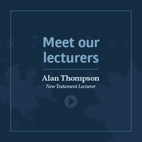 Meet our lecturers - Dr Alan Thompson