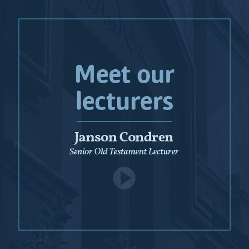 Meet our lecturers - Dr Janson Condren