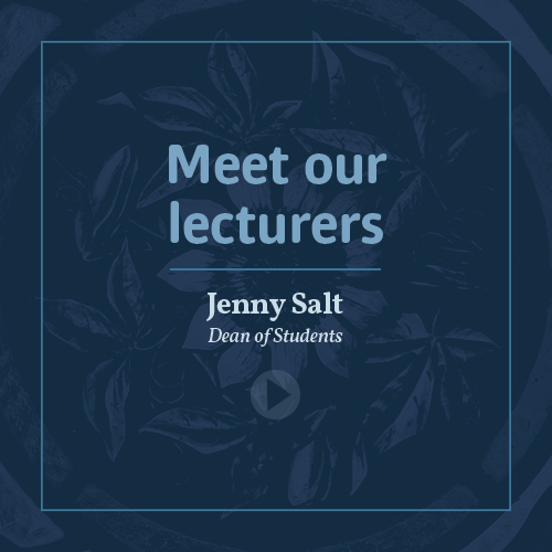 Meet our lecturers - Jenny Salt