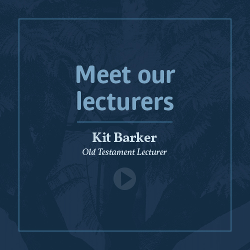 Meet our lecturers - Dr Kit Barker