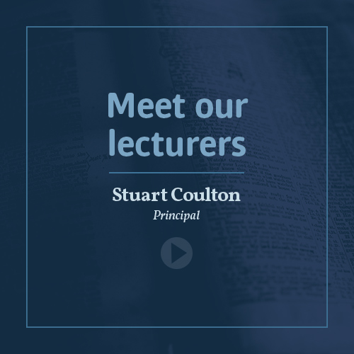 Meet our lecturers - Rev Stuart Coulton