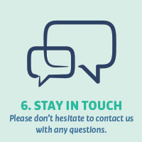 6. Stay in touch
