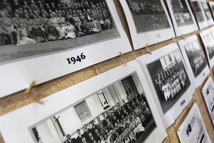 Class photos dating back to 1946