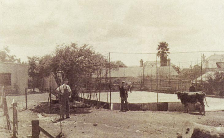 1940s Tennis Court and Lower Dorm